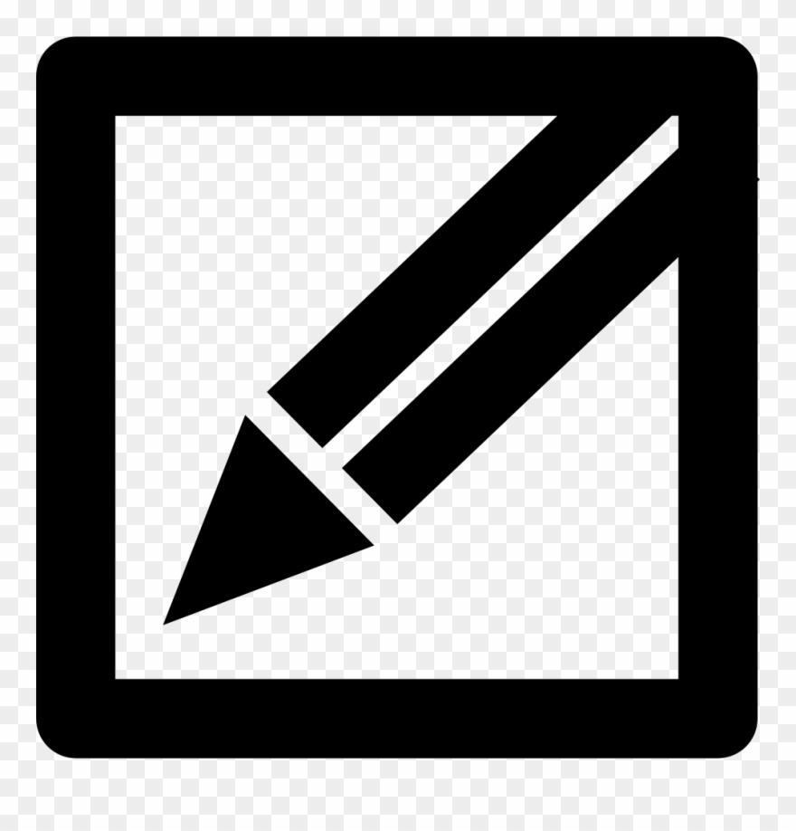 Pencil In A Square Edit Or Write Interface Button Symbol.