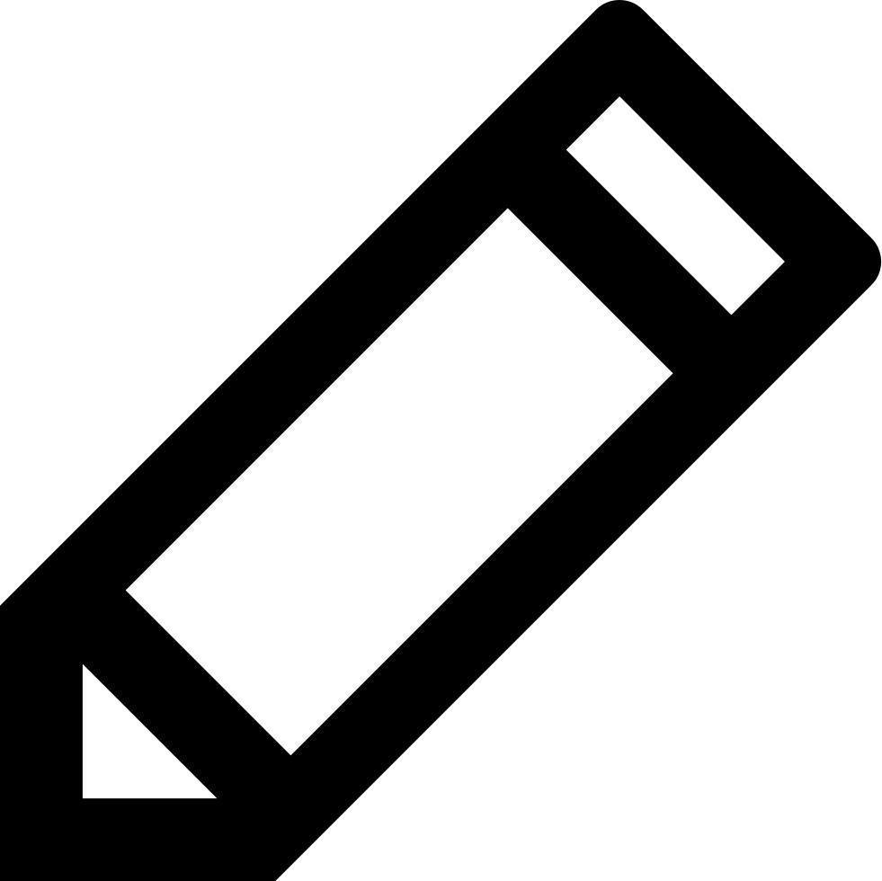 Edit Pencil Symbol Svg Png Icon Free Download (#16722.