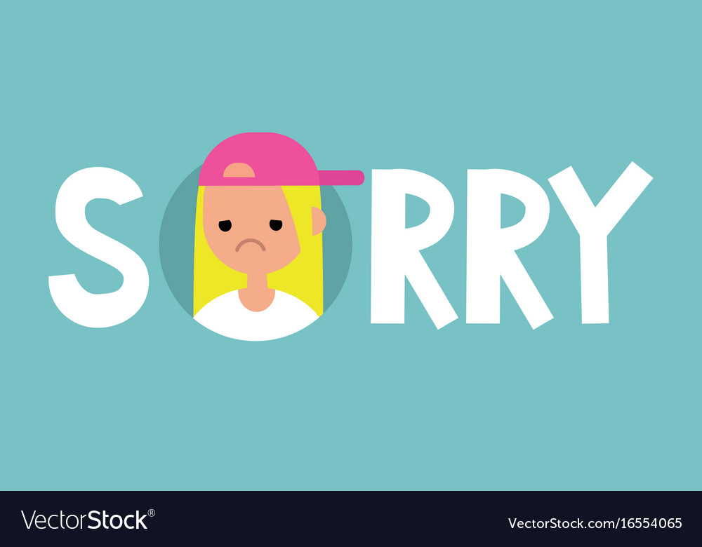 Sorry sign apologize flat editable sign clip art.