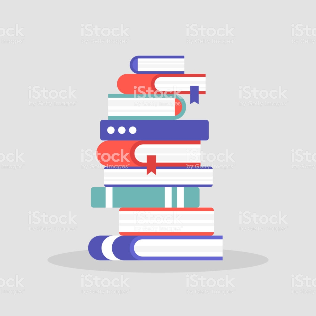 A Pile Of Books Literature Reading Knowledge Education University.
