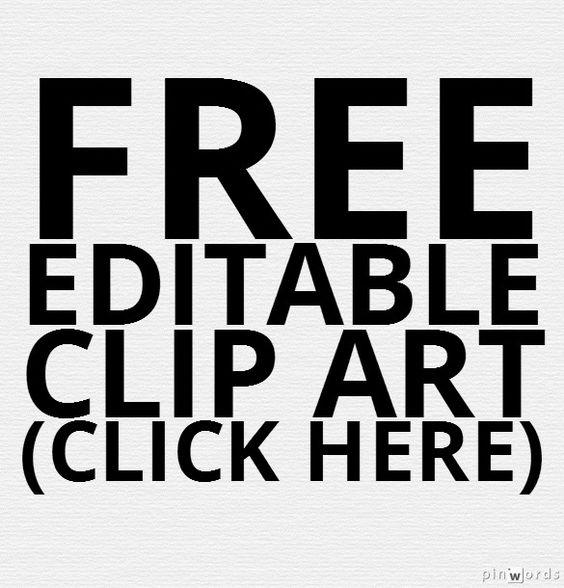 Editable clip art.