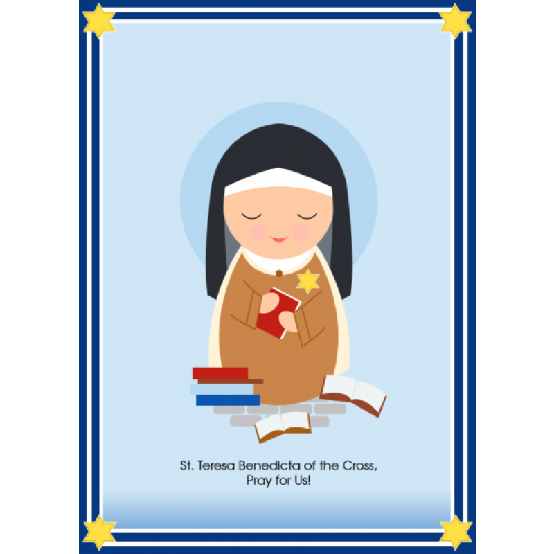 Saint Teresa Benedicta of the Cross (Edith Stein) Print.