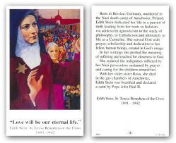"Saint Edith Stein & Biography"" Prayer/Holy Card (Paper/100."