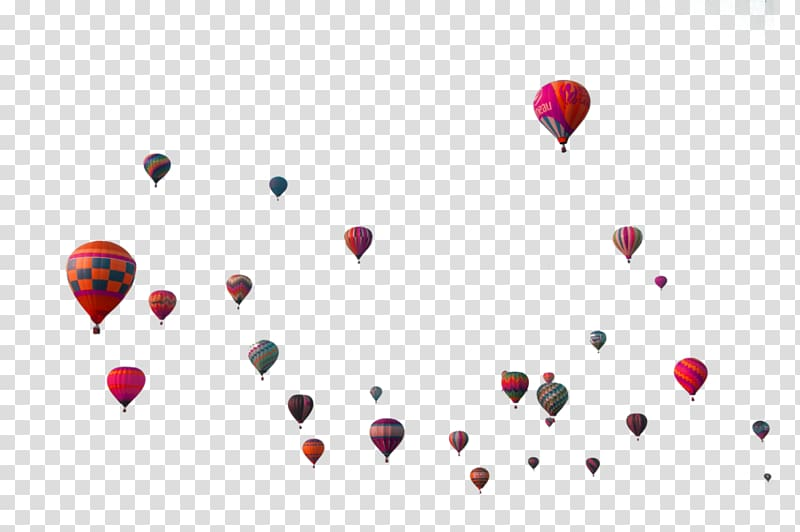 Editing, Colorful simple hot air balloon floating material.
