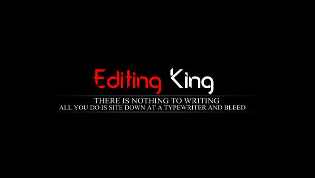 Editing King Text Png.