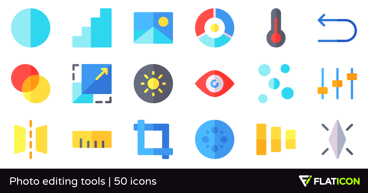 Photo editing tools 50 free icons (SVG, EPS, PSD, PNG files).