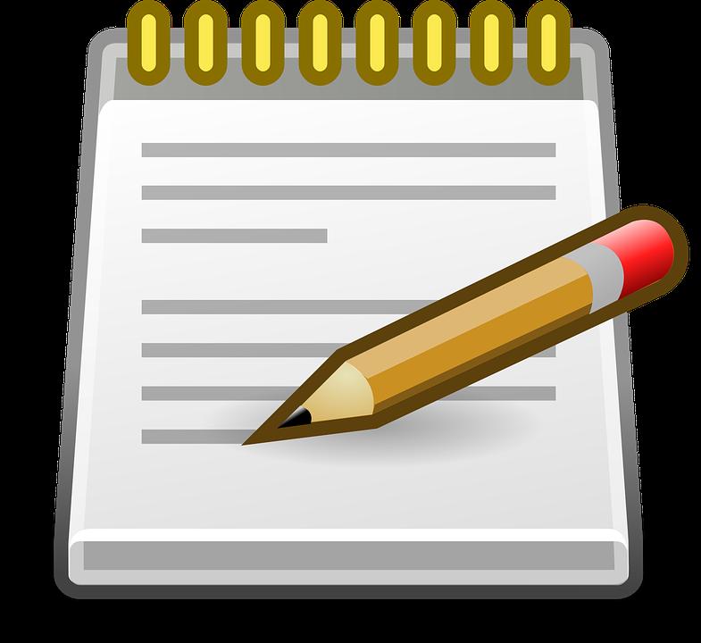 Notepad Editor Pencil.