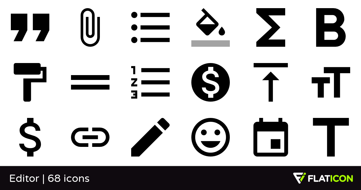 Editor 68 free icons (SVG, EPS, PSD, PNG files).