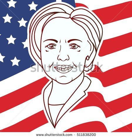 Usa Presidential Election Hillary Clinton Vector Stock Vector.