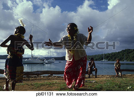 Stock Photography of Tongan Feast, Vavau Island, Tonga, NMR.
