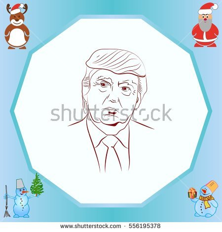 Usa Presidential Election Donald Trump Vector Stock Vector.