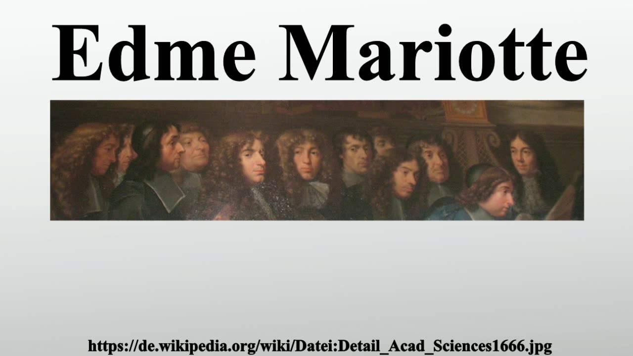 Edme Mariotte.