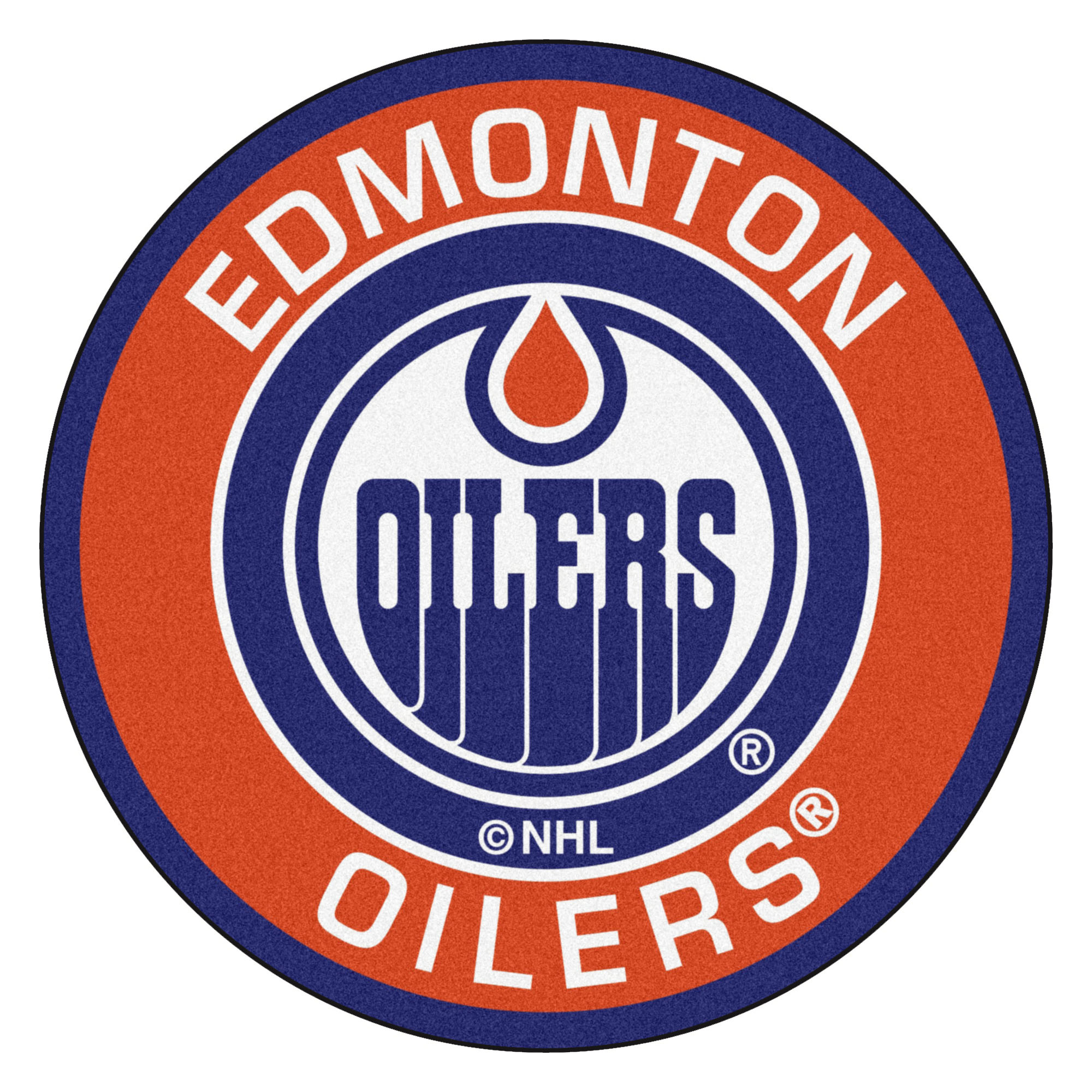 Edmonton Oilers Logo Roundel Mat.
