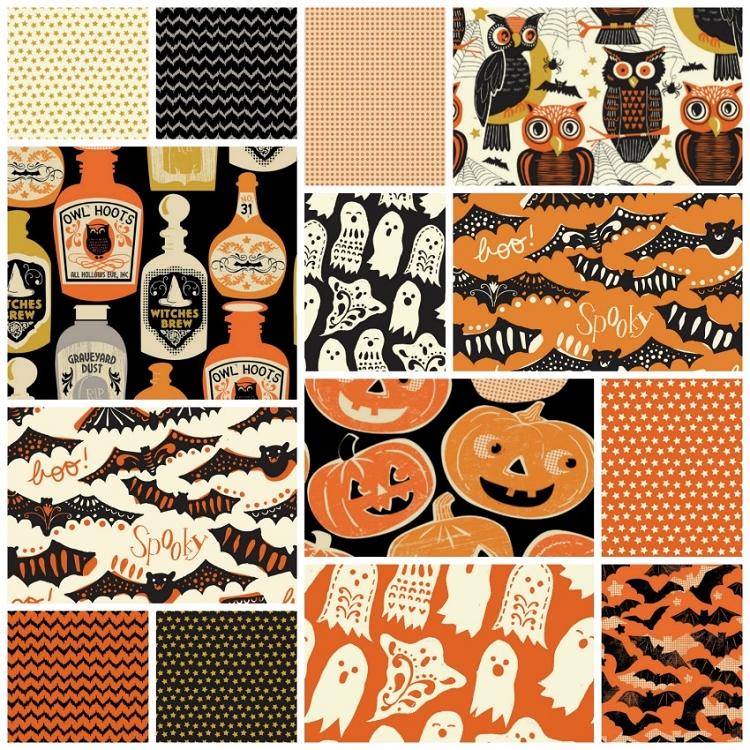 Spooktacular Too 14 Fat Quarter Set.