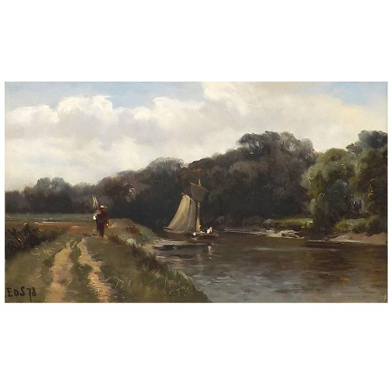 An Easy Sail' by Belgian Painter Edmond De Schampheleer For Sale.