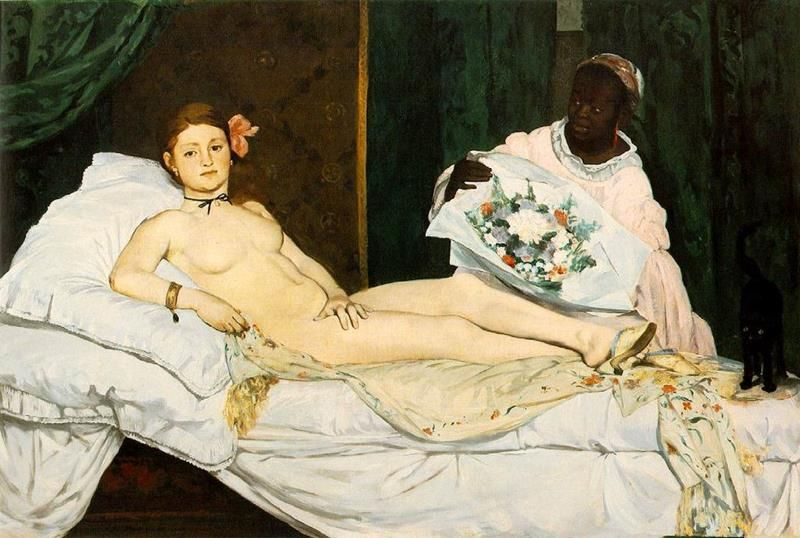 Édouard Manet, Olympia, 1863, Museo d'Orsay.