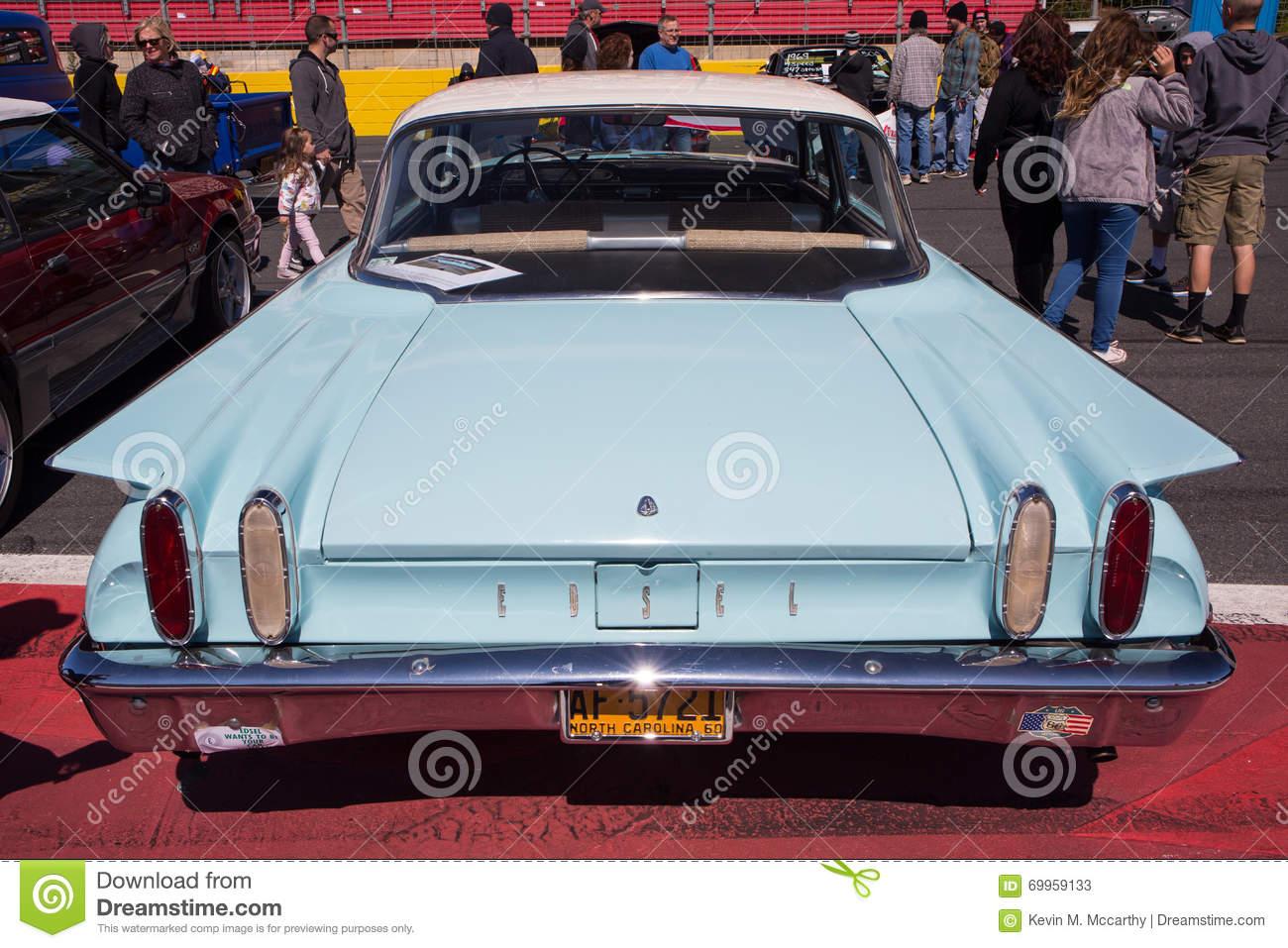 Classic 1960 Edsel Automobile Editorial Stock Photo.