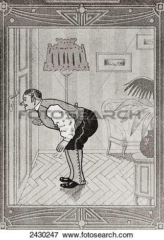 Picture of What the butler saw. From Illustrierte Sittengeschichte.