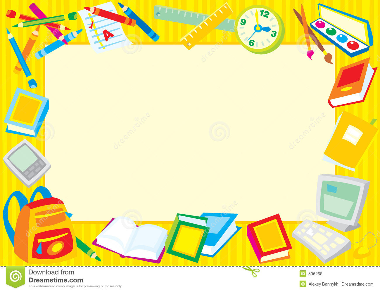 school supplies clipart border clipground