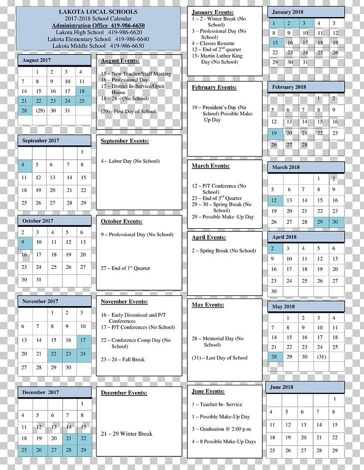 Lakota High School Online Calendar Learning Community PNG.