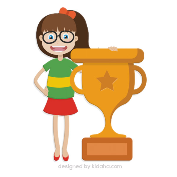 Free girl & trophy clip arts,Free education clip arts for kids,Free.
