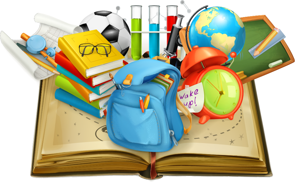 Download School Vector Books Student In Supplies Education Clipart.