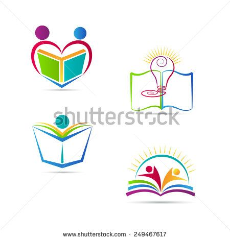 Education book logo vector design represents school, university and.