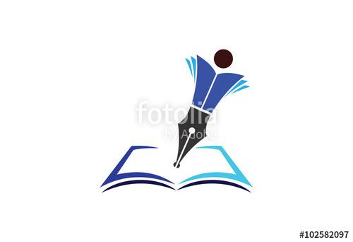Education emblem vector design represents school, college and.