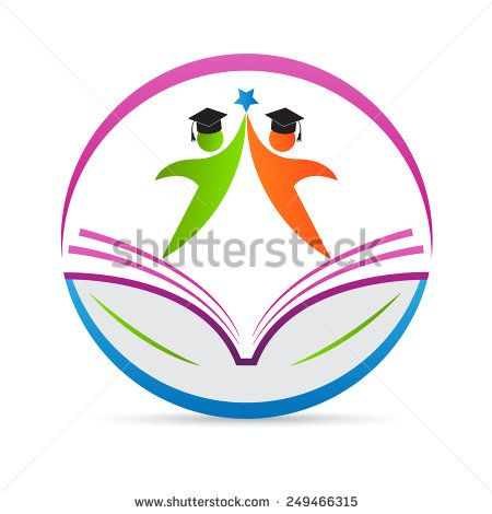 Education logo vector design represents school emblem concept.