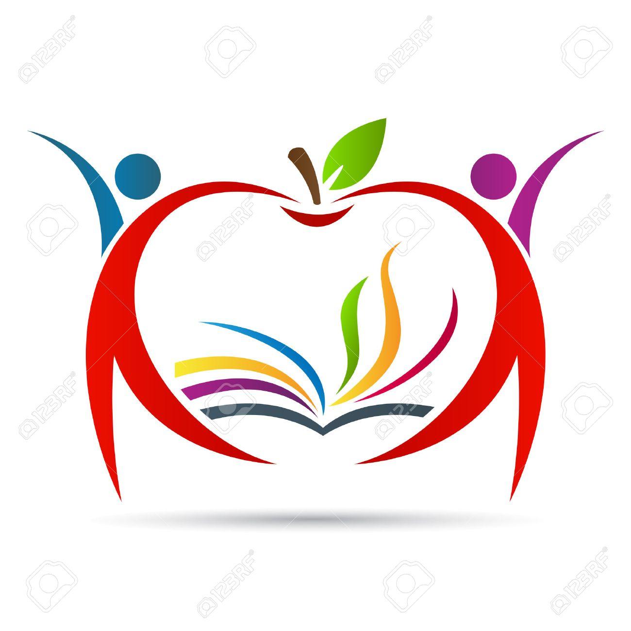Education apple vector design represents school , education emblem...