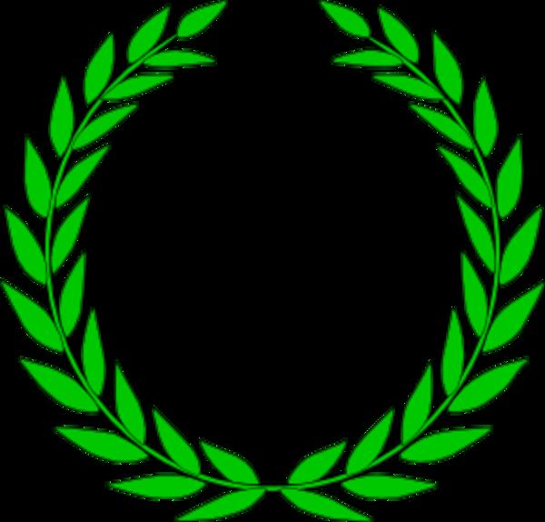 Education Symbol Olive Wreath.