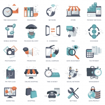 Education Icons PNG Images.