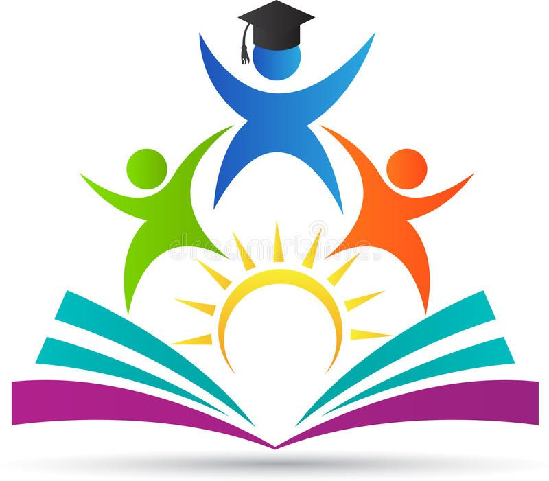 Photo about A vector drawing represents education logo.