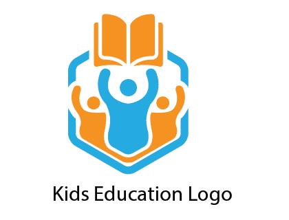 Kids Education Logo Vector.