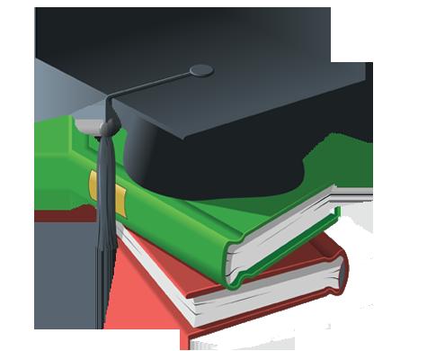 Education Cap Books PNG 210x172.