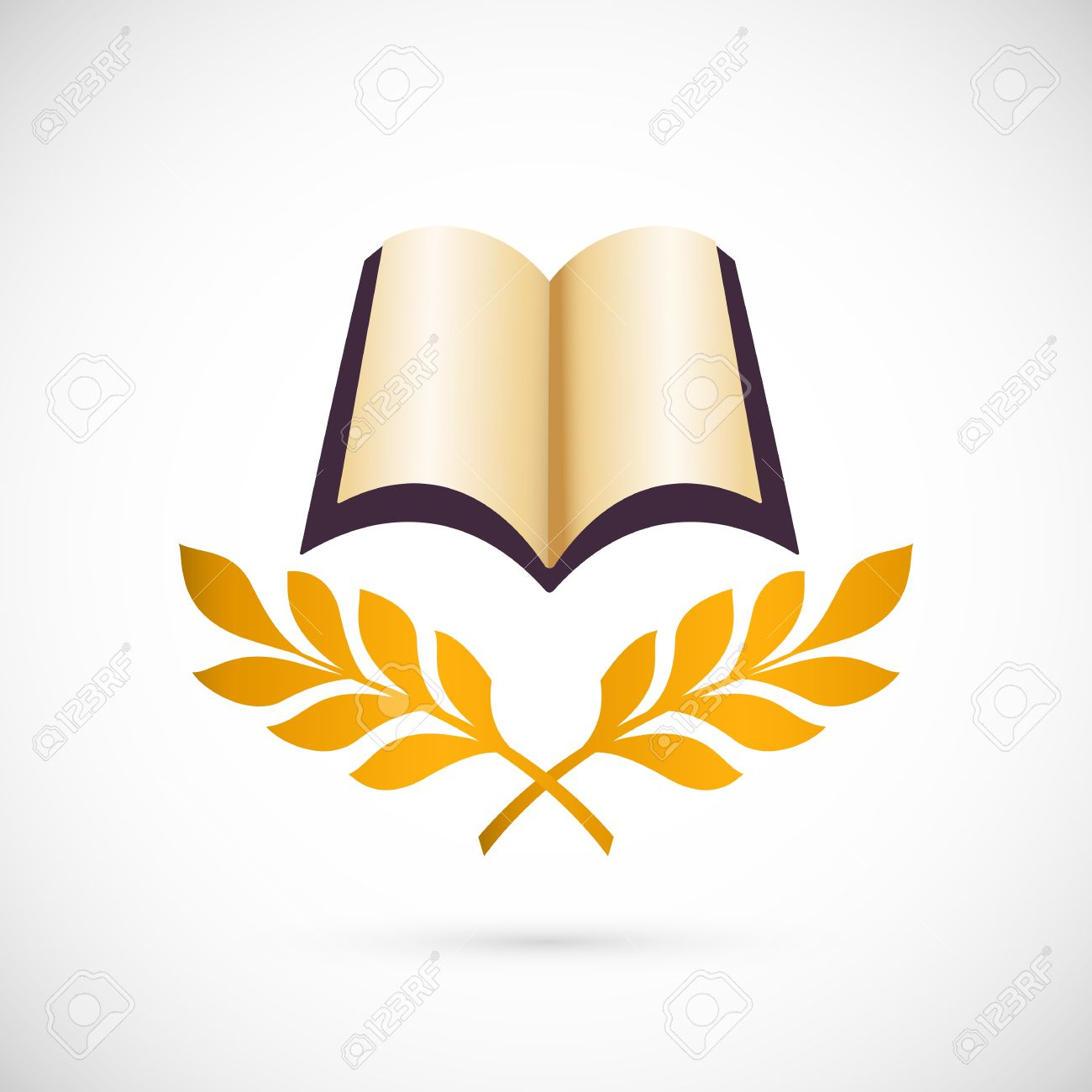 Open Book Icon. Education Creative Symbol Design Royalty Free.