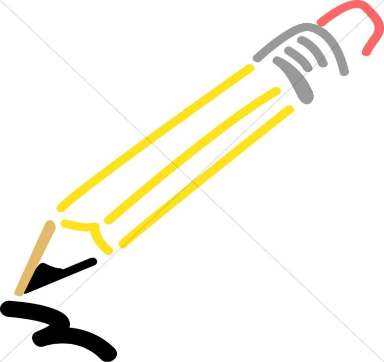 Wooden School Pencil.