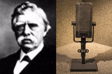 David Edward Hughes, the father of the microphone.