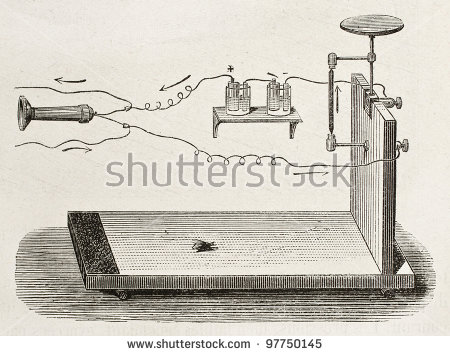 First Carbon Microphone Invented By British Stock Photo 97750145.
