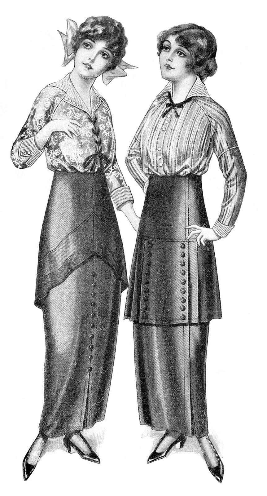 Black and White Fashion Clip Art.