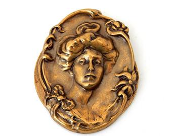Vintage Damascene Link Bracelet Silver Gold by HiddenStairwayFinds.