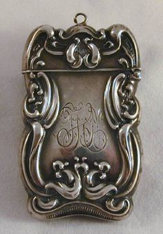 Ornate Antique English Sterling Silver Embroidery Scissors.