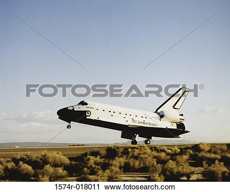 Stock Photography of Space Shuttle Discovery Mission STS.