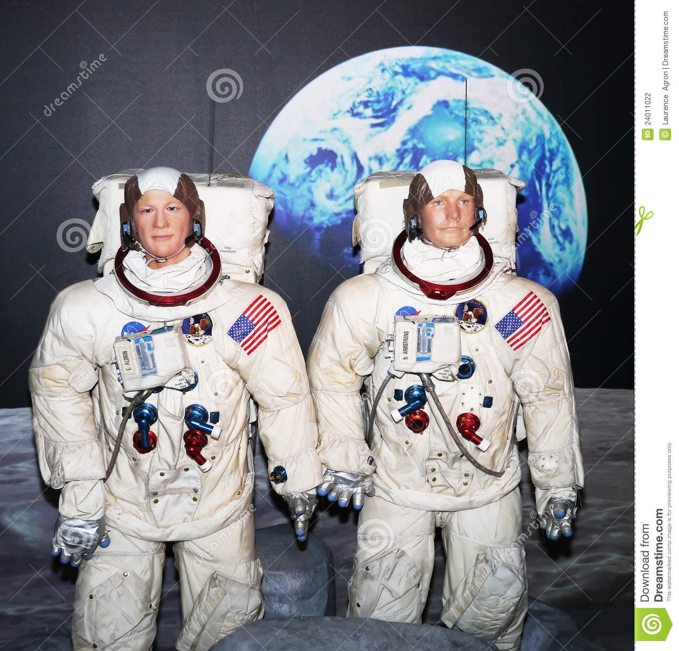 Buzz Aldrin And Neil Armstrong Editorial Photography.