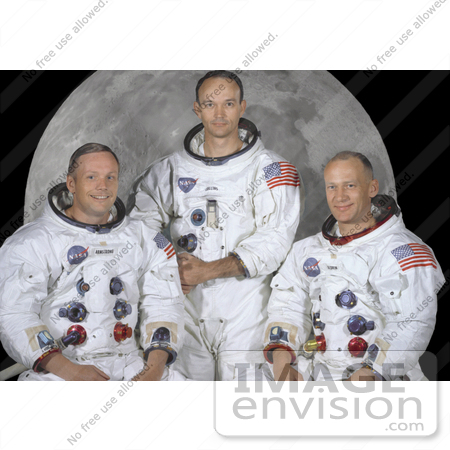 Stock Picture of Neil Armstrong, Michael Collins, and Buzz Aldrin.