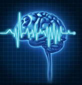 Clip Art of EEG electrode placement, eps10 k12952269.