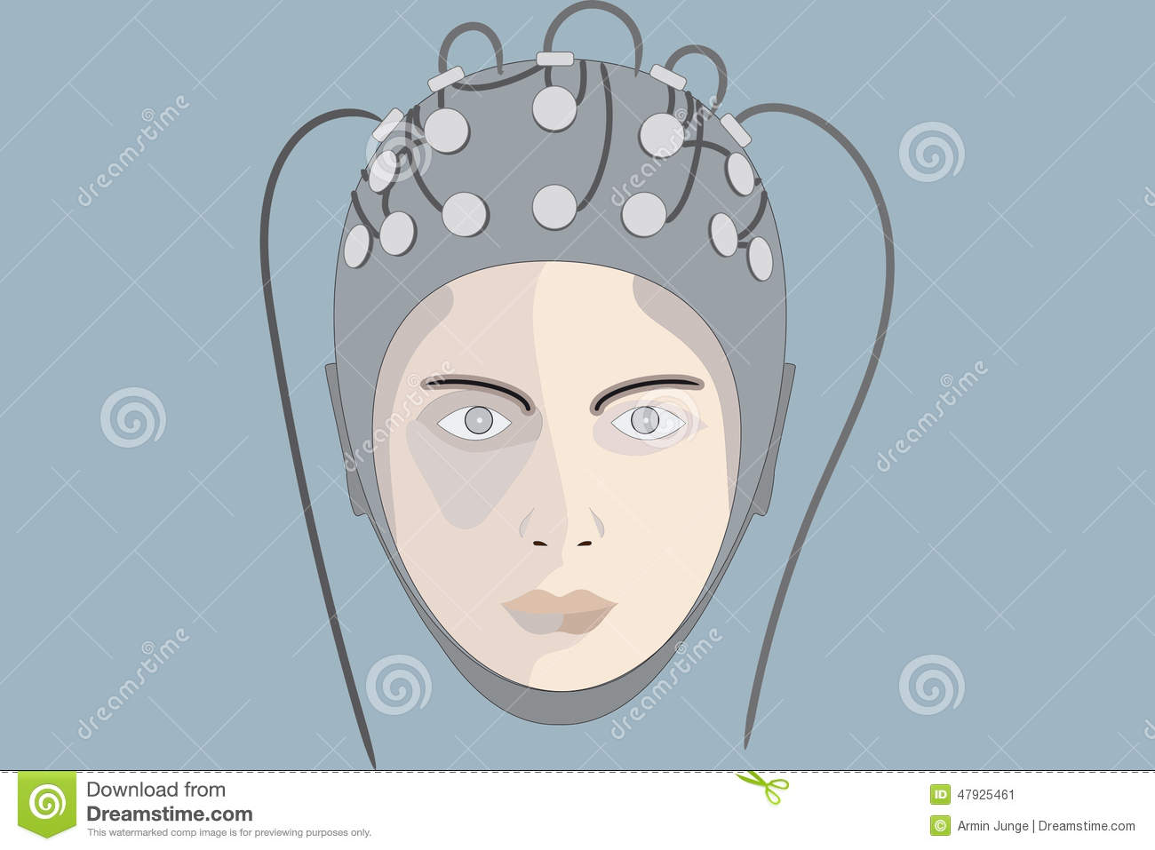 EEG 4 Stock Illustration.
