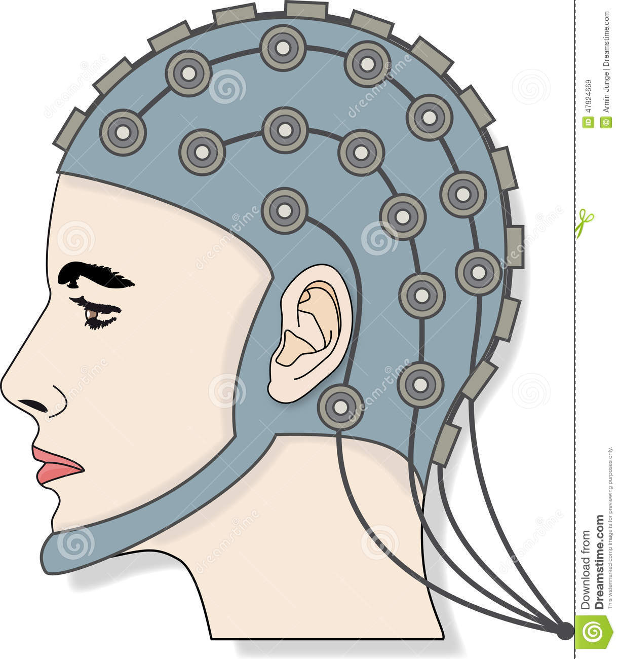 EEG 3 Stock Illustration.