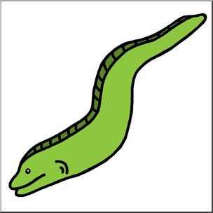 Clip Art: Eel Color 1 I abcteach.com.
