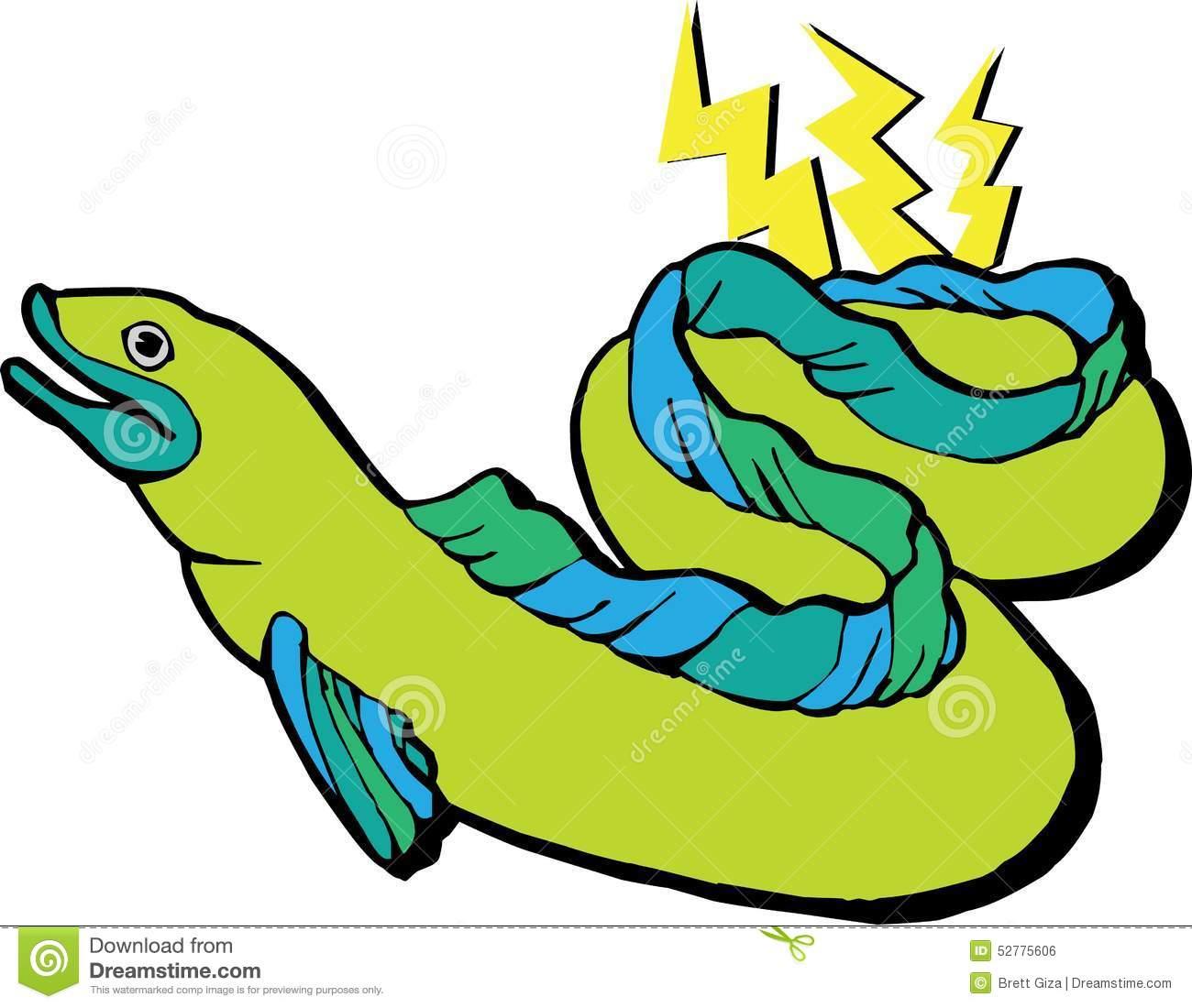 Electric eel clipart.